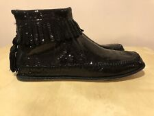"MARC JACOBS ""SCHUHE"" Sequined Leather Ankle Boots, NWB , Size 39"