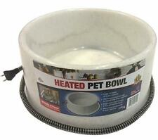 FI HEATED ELECTRIC DOG CAT PET WATER BOWL DISH OUTDOOR WATERER SPECKLE 1.5 GAL