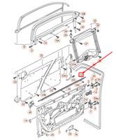 Audi A6 4F C6 Avant Gauche Extérieur Fenêtre Aperture Joint 4F0837477A Neuf Vrai