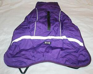Doglemi Reflective Waterproof Fleece Lined Dog Coat Jacket - Purple or Red
