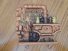 """Vintage Plaque 1974 Miller Studios """"A Kitchen is the Heart of the Home"""""""