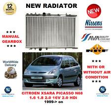 FOR CITROEN XSARA PICASSO N68 1.6 16V 1.8 16V 2.0 16V 2.0 HDi 1999> NEW RADIATOR