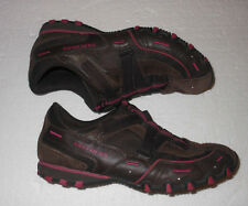 SKECHERS SHOES WOMEN'S CASUAL WALKING SHOES BROWN/PINK TRIM SIZE 9 1/2