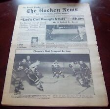 The Hockey News October 24 1953 Johnny Bower / Harry lumley  / Maurice Richard