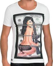 Redbridge Unifarben Herren-T-Shirts aus Baumwolle ohne Mehrstückpackung