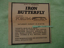 Iron Butterfly 1970 concert ad Fabulous Forum La Krla radio