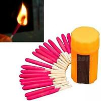 5 Sets Camping Hiking Emergency Survival Windproof Stormproof Matches Case Kit