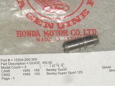 1960-1966 Honda CA95 150 CB92 125 Benly Intake Valve Guide OEM NOS 12204-200-305