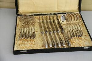 alter Besteckkasten 18tlg gestempelt BSF 90