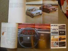 Lot 3 BMW 320i Sales brochures, 1980, 1977, 1978