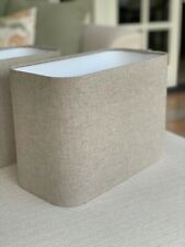 Handmade Lampshade 30cm Rounded Rectangle John Lewis Natural Linen Fabric