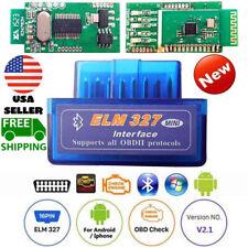 Car Bluetooth OBD2 Scanner Code Reader Automotive Diagnostic Tool OBDII ELM 327@