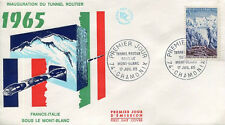 FRANCE FDC - 549 1454 1 INAUGURATION DU TUNNEL ROUTIER MT BLANC -17 Juillet 1965