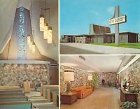 CA San Diego CLAIREMONT MORTUARY Funeral Home Int & Ext c1960 5.5x7 postcard