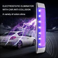 Car Solar Wireless Smart 7 LED Warning Light Electrostatic Eliminator Anti-Crash