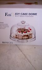 Fellii Joy Cake Dome 4 in 1 multi function 12 inch x 12 inch acrylic 11 pieces 8