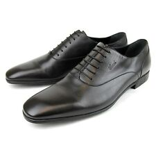 New Authentic Gucci Mens Leather Cork Oxford Dress Shoe, Black, 278956 1000