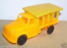 JOUET BAZAR ANNEES 1980 TRUCK CAMION SAFARI MACK US USA JAUNE ORANGE 1/80
