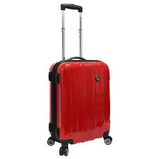 """Traveler Choice Red Sedona Polycarbonate 21"""" Carry-on Spinner Travel Luggage Bag"""