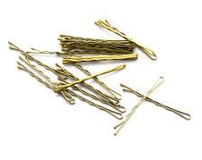 36 GOLD BOBBY HAIR PINS CLIPS GRIP 4.5 cm. LONG PIN  GC2
