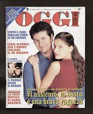 OGGI 8/1999 FABIO FAZIO LAETITIA CASTA DULBECCO ROBERT REDFORD DARIO ARGENTO