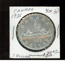 1935 Canada Silver Dollar coin # KM  380