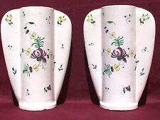 Paire de vases à ailettes Louis DAGE faience craquelée 30cm cracked earthenware