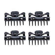 Shiny Black Jaw Clip Claw Hair Clip Cute Girls Hair Accessory wCircular Design