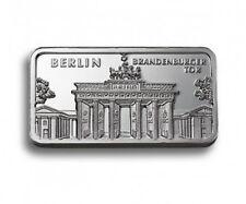 1 oz Degussa 999 Silber Silberbarren Motivbarren Berlin Brandenburger Tor