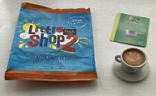 M & S LITTLE SHOP 2 MINI COLLECTABLE. CAFE CUP OF COFFEE. COLLECTORS CARD / BAG