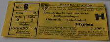 Ticket for collectors * Austria - Greece 1984 in Wien