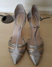 Lotus Ladies Metallic Silver Bronze Leather Strap Occasion Shoes UK 4.5 EU 37.5