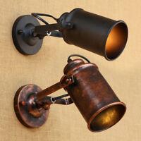 Vintage Iron Loft Industrial Adjustable Swing Arm Wall Sconce Lamp Light Fixture