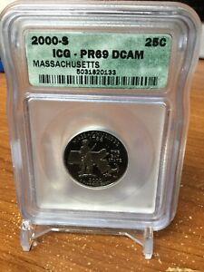 2000-S Quarter ICG PR69 DCAM (Massachusetts) !!!