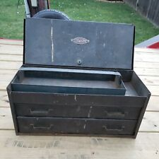 Vintage Craftsman 2 Drawer Toolbox Chest With Tray Machinist Style Metal