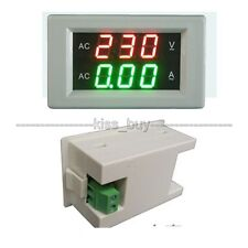 AC300V 0-10A LED voltmeter ammeter digital dual display Volt Amp Meter 110V 220V
