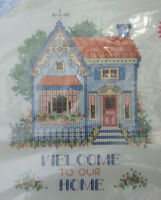 """STICHABLES Counted Cross Stitch Kit #72123 WELCOME TO OUR HOME  8"""" x 10"""" NEW"""