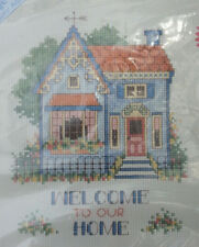 "STICHABLES Counted Cross Stitch Kit #72123 WELCOME TO OUR HOME  8"" x 10"" NEW"