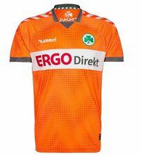 Hummel Ladies Football Shirt Furth Short Sleeve Jersey Orange Size 8