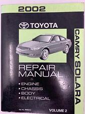 2002 toyota camry solara repair service manual volume 2