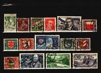 Switzerland 15 Used Semi Postals / Few Faults - C1143