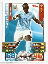 2015 / 2016 EPL Match Attax Base Card (153) Bacary SAGNA Manchester City