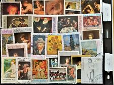Attractive 100 WW PAINTING~ART ON STAMPS TOPICAL PARADISE Own your own Gallery 2