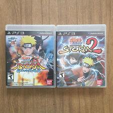 Naruto Shippuden LOT NEAR MINT CIB Ninja Storm Revolution + Revolution 2 PS3