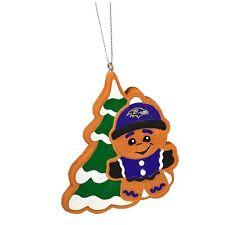 Baltimore Ravens Gingerbread Man w/ Tree Christmas tree Ornament NEW - MT14