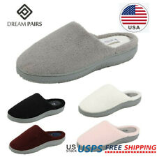 DREAM PAIRS Womens Memory Foam Winter Slippers Faux Fur Anti-slip House Slippers