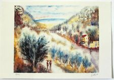 "Albert Goldman """"Landscape"" Hand Signed and Numbered 8/250 Serigraph"