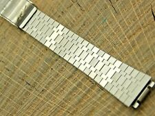 Vintage Watch Band 14mm Straight End Stainless Sliding Clasp NOS Unused Mido