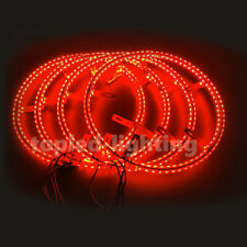 2020 NEWEST 4PC 14inch Double Row RGB LED Illuminated Wheel Ring Kit Rim Lights
