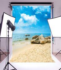Sea Beach Studio Vinyl 5x7ft Photography Background Theme Photo Backdrop Props
